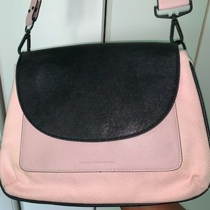 Pink and Black French Connection Hobo Bag